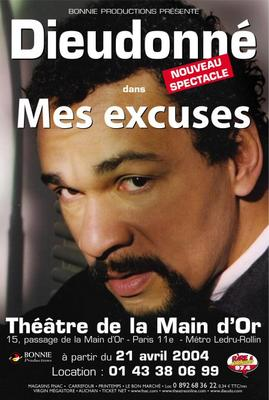 spectacle dieudonné mes excuses