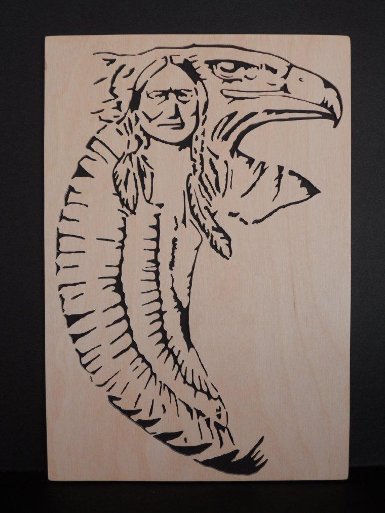 Cadre Indien + Aigle