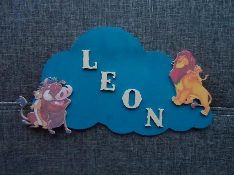 """Plaque de Chambre bébé """""""" Léon """""""""""