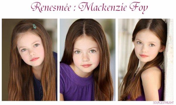 Mackenzie Foy notre Renesmée :