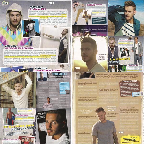 Matt dans le magasine NEW STAR MAG ( Juin 2012 )