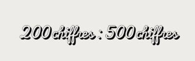 200 : 500