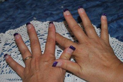 french paillettes violette