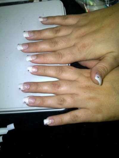 french + gel paillette + strass