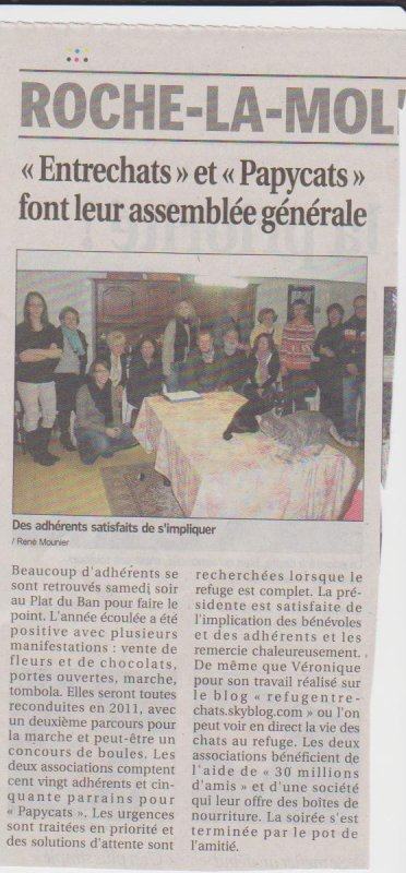 ARTICLE DU 02 FEVRIER 2011