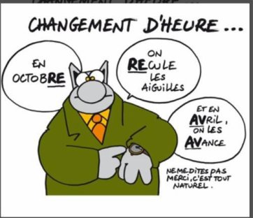 ON CHANGE D'HEURE