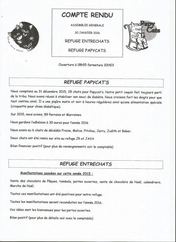COMPTE RENDU ASSEMBLEE GENERALE