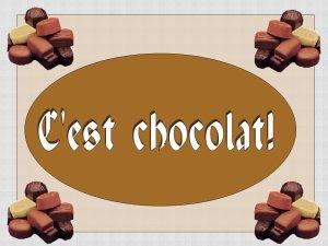 CHOCOLAT DE NOEL 2018