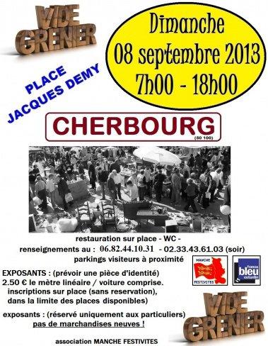 Vide grenier à Cherbourg - 08 sept 2013
