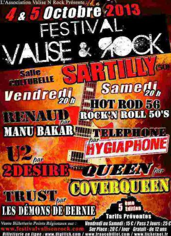 Le 4 et 5 Octobre le Festival Valise & rock de Sartilly (50)