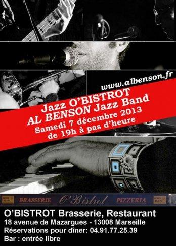 JAZZ O'BISTROT - AL BENSON Jazz Band en concert le 07/12/13