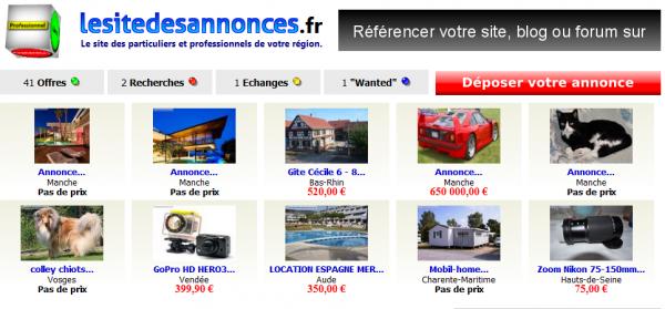 Site de petites annonces lesitedesannonces.fr