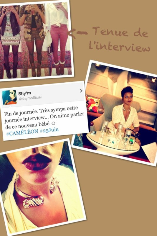 ||•Shy'm s'est fait interviewée•||•Reprise du ShimiTour•||