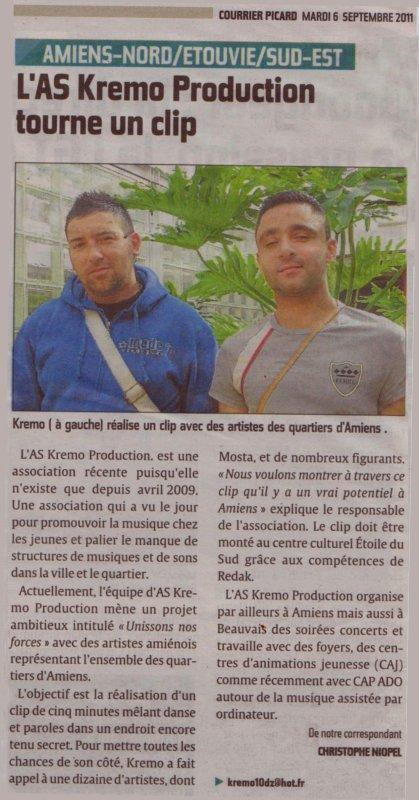 """Journal Quotidien """" Nouvelle Article Courrier Picard """""""