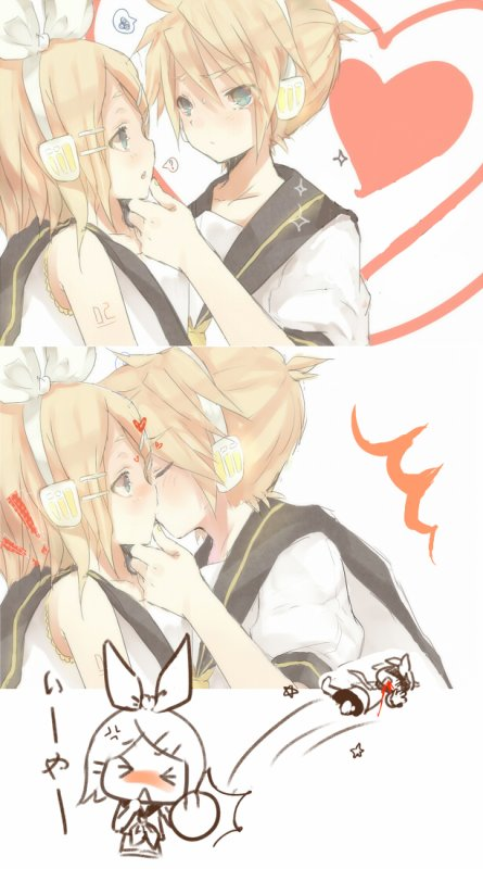 Rin et Len >////<