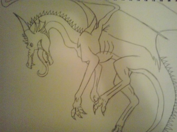 Dessin #6 Un dragon lol