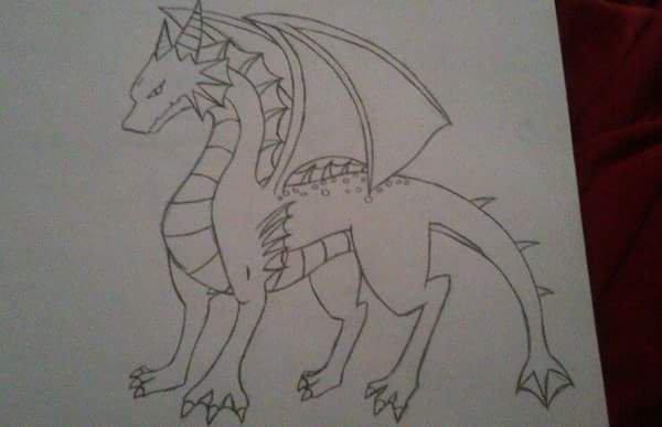 Dessin #8 Un autre dragon :1