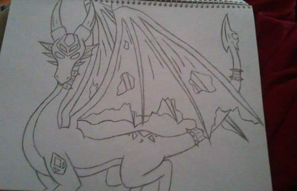 Dessin #9 Encore un dragon xD