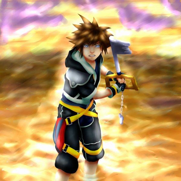 Dessin #19 Demande spéciale Sora de Kingdom Hearts c: !!