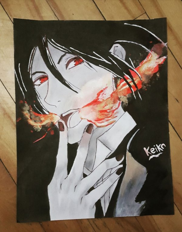 Painting for the first time lol Sebastian Michaelis.