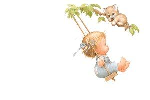 petite fille sur la balanoire