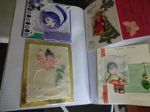 mon cahier de cartes ... bien épais  comme vous pourrez en juger
