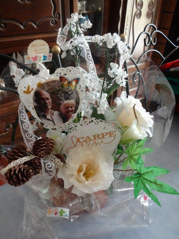 le bouquet cadeau pour les  mariés