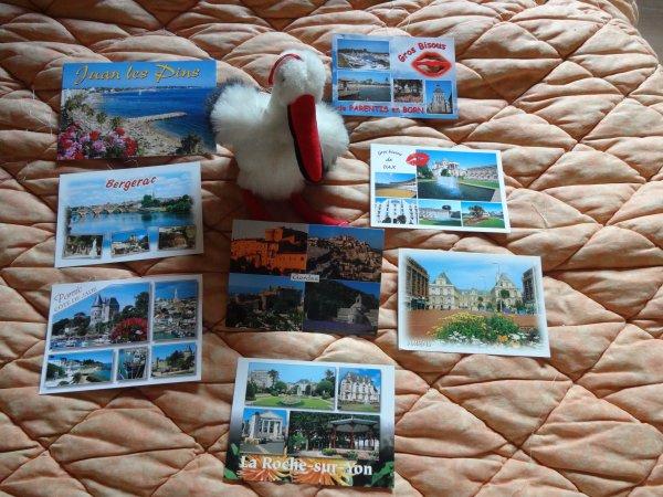 les vacances approchent alors revons un peu avec les cartes postales recues