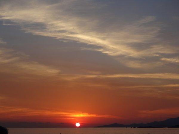 le coucher du soleil en corse