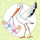 une petite créa pour un bébé qui vient de naitre