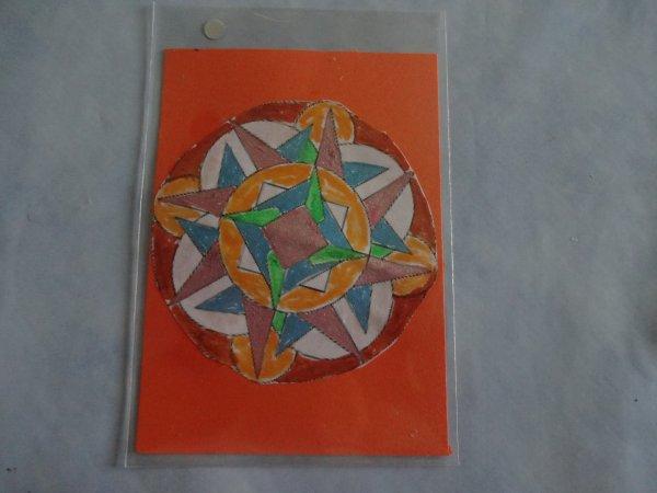 mes atc thème dessins geométriques