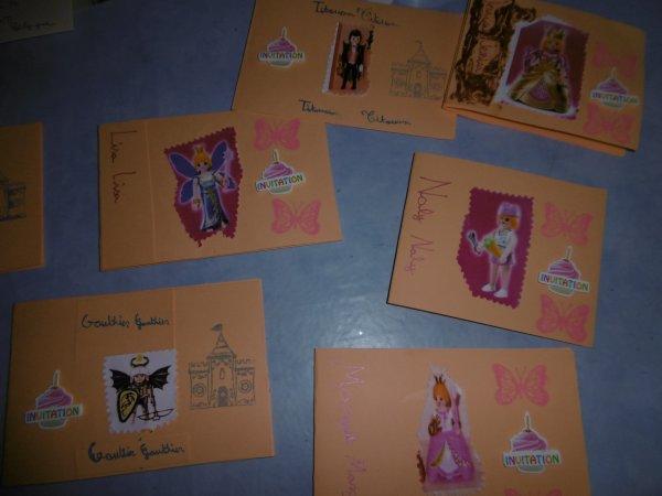 les cartes en cours de ma petite fille pour son anniversaire