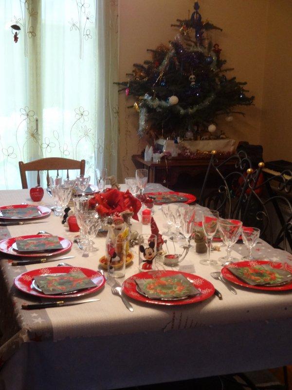 un peu de ma table de noel et de la déco couleur gris argent et rouge
