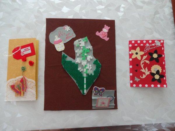petites créations  un tableau et deux cartes