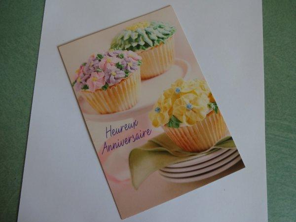 une carte d'anniversaire de ......