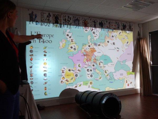 sortie avec les enfants au panorama xxl    thème Jeanne d'arc