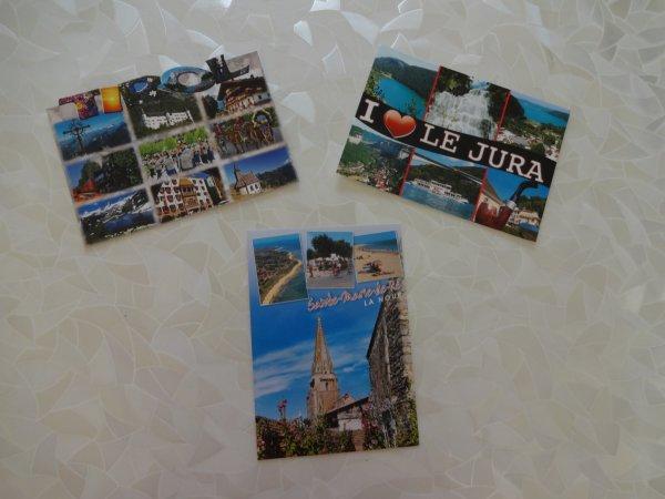 cet été j'ai voyagé grace aux cartes postales que j'ai recu