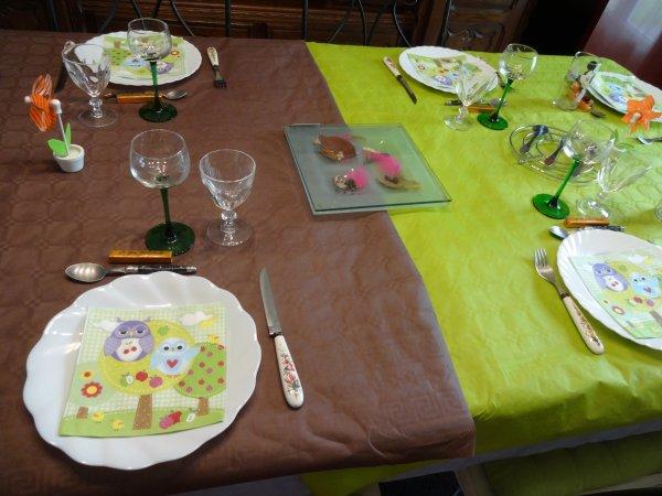 ma dernière table pour recevoir mes enfants