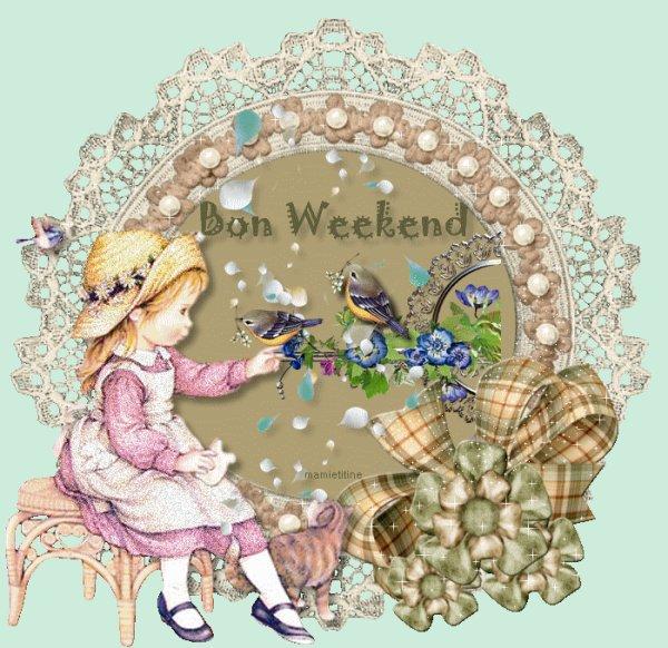 allez profitons de ce nouveau week end qui va surement passé très vite .....