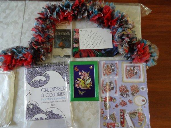 merci à Maité pour ces jolis cadeaux    quelle joie de recevoir un colis fait avec amour