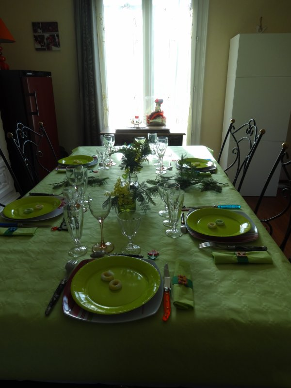 la table d'anniversaire