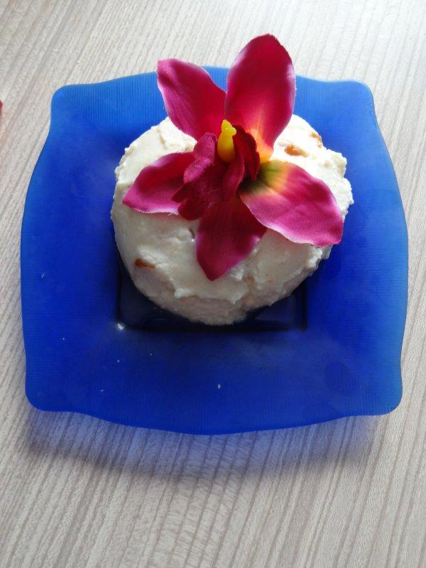 mon petit dessert crème de riz aux abricots frais