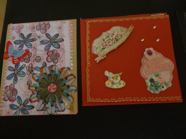 j'ai recu de jolies cartes