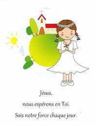 demain communion de ma petite fille