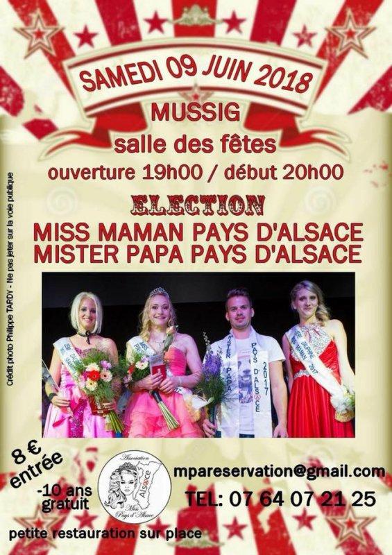 Election Miss maman et Mister papa pays d'Alsace 2018