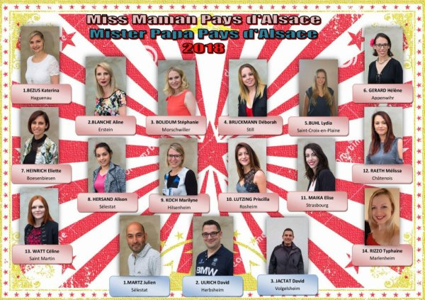 Nos candidates et candidats 2018