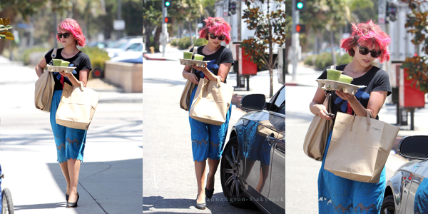 Le 17 Août Dianna a achetée des boissons après avoir quitter le tournage de Glee