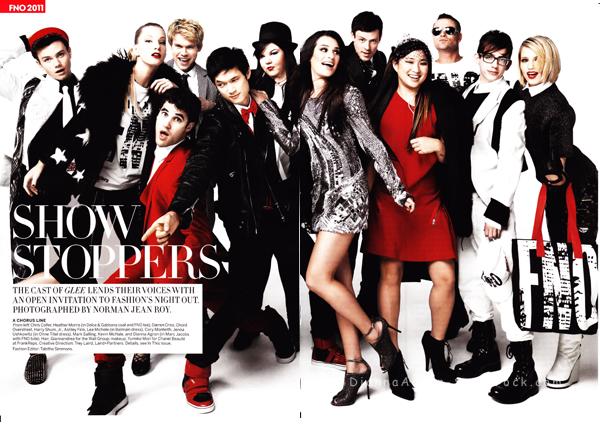 Scans du magazine Vogue du mois de Septembre.