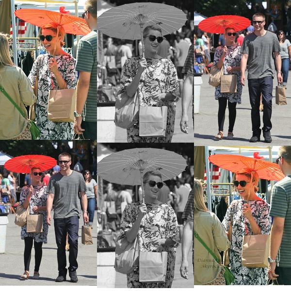 Le 4 Septembre Dianna a été vue à California's Fairfax Flea Market avec son frère et Taylor Swift.