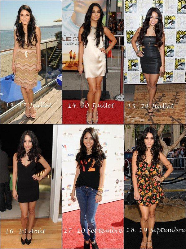 Quelle tenue de Vanessa  lors des Tapis rouge 2010 mériterait un TOP & un FLOP